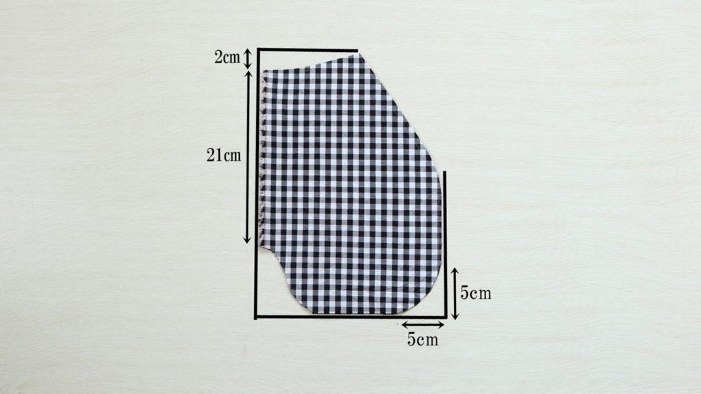 巻きスカート 型紙