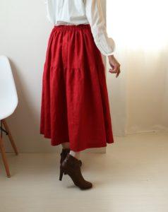 ティアードスカート 作り方