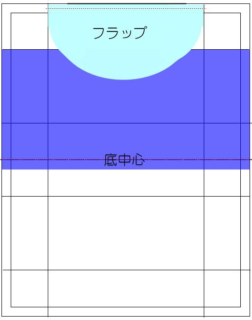 25㎝ファスナー 型紙